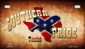 Southern Pride Texas Novelty Wholesale Motorcycle License Plate MP-7931