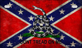 Don't Tread On Me Confederate Novelty Wholesale Motorcycle License Plate MP-7984