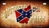 Southern Pride Ohio Novelty Wholesale Motorcycle License Plate MP-8343