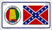 Confederate Alabama Novelty Wholesale Motorcycle License Plate MP-10883