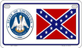 Confederate Louisiana Novelty Wholesale Motorcycle License Plate MP-10884