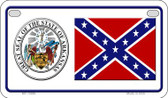 Confederate Arkansas Novelty Wholesale Motorcycle License Plate MP-10886
