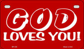 God Loves You Novelty Wholesale Motorcycle License Plate MP-238