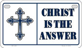 Christ Is The Answer Novelty Wholesale Motorcycle License Plate MP-250