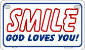 Smile God Loves You Novelty Wholesale Motorcycle License Plate MP-255