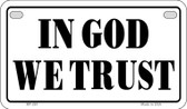 In God We Trust Novelty Wholesale Motorcycle License Plate MP-261