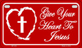 Give Your Heart To Jesus Novelty Wholesale Motorcycle License Plate MP-242
