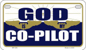 God Is My Pilot Novelty Wholesale Motorcycle License Plate MP-253