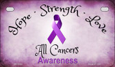 All Cancer Ribbon Novelty Wholesale Motorcycle License Plate MP-8300