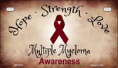Multiple Myeloma Ribbon Novelty Wholesale Motorcycle License Plate MP-8316