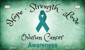 Ovarian Cancer Ribbon Novelty Wholesale Motorcycle License Plate MP-8317