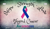 Thyroid Cancer Ribbon Novelty Wholesale Motorcycle License Plate MP-8323