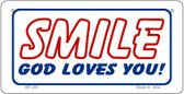 Smile God Loves You Novelty Wholesale Bicycle License Plate BP-255