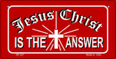 Jesus Christ Is The Answer Novelty Wholesale Bicycle License Plate BP-237