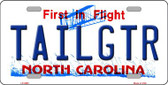Tailgtr North Carolina Novelty Wholesale Metal License Plate