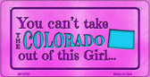Colorado Girl Wholesale Bicycle License Plate BP-9797