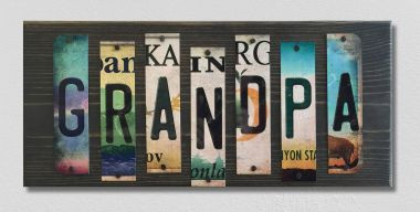 Grandpa License Plate Strip Wholesale Wood Sign WS-001