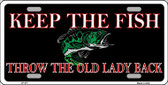 Keep the Fish Wholesale Metal Novelty License Plate LP-377