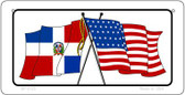 Dominican Republic / USA Flag Wholesale Novelty Bicycle Plate BP-5125