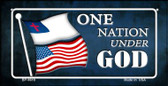 One Nation Under God Flag Wholesale Novelty Bicycle Plate BP-9619