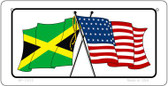 Jamaica / USA Flag Wholesale Novelty Bicycle Plate BP-11515