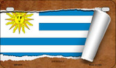 Uruguay Flag Scroll Wholesale Novelty Motorcycle Plate MP-9311