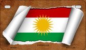 Kurdistan Flag Scroll Wholesale Novelty Motorcycle Plate MP-9321