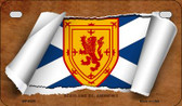 Scotland St. Andrews Flag Scroll Wholesale Novelty Motorcycle Plate MP-9325