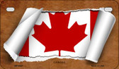 Canada Flag Scroll Wholesale Novelty Motorcycle Plate MP-9327