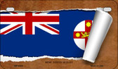 New South Wales Flag Scroll Wholesale Novelty Motorcycle Plate MP-9335