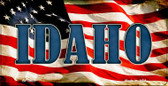 Idaho US Flag Wholesale Novelty Bicycle Plate BP-3623