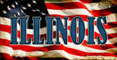 Illinois US Flag Wholesale Novelty Bicycle Plate BP-3624