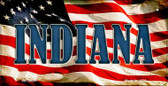 Indiana US Flag Wholesale Novelty Bicycle Plate BP-3625