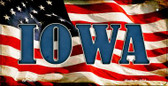 Iowa US Flag Wholesale Novelty Bicycle Plate BP-3626