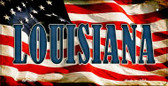 Louisiana US Flag Wholesale Novelty Bicycle Plate BP-3629