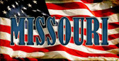 Missouri US Flag Wholesale Novelty Bicycle Plate BP-3636