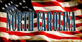 North Carolina US Flag Wholesale Novelty Bicycle Plate BP-3644
