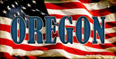 Oregon US Flag Wholesale Novelty Bicycle Plate BP-3648