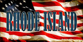 Rhode Island US Flag Wholesale Novelty Bicycle Plate BP-3650