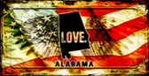 Alabama Love & Wings Wholesale Novelty Bicycle Plate BP-8587