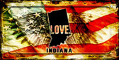 Indiana Love & Wings Wholesale Novelty Bicycle Plate BP-8600