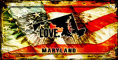 Maryland Love & Wings Wholesale Novelty Bicycle Plate BP-8606