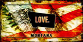 Montana Love & Wings Wholesale Novelty Bicycle Plate BP-8612