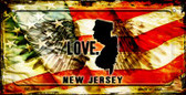 New Jersey Love & Wings Wholesale Novelty Bicycle Plate BP-8616