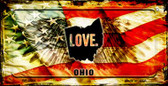 Ohio Love & Wings Wholesale Novelty Bicycle Plate BP-8621