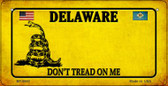 Delaware Do Not Tread Wholesale Novelty Bicycle Plate BP-8840