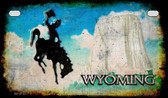 Wyoming Rusty Blank Background Wholesale Novelty Motorcycle Plate MP-8167