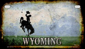 Wyoming Rusty Blank Background Wholesale Novelty Motorcycle Plate MP-8519