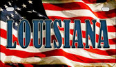 Louisiana US Flag Wholesale Novelty Motorcycle Plate MP-3629