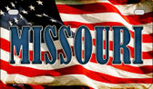 Missouri US Flag Wholesale Novelty Motorcycle Plate MP-3636